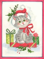 Cat with Gifts Fine-Art Print