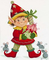 Elf With 3 Mice Fine-Art Print