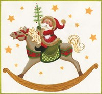 Santa On Rocking Horse Fine-Art Print