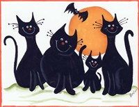 Halloween Kitties Fine-Art Print