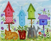 Bird Houses In Garden Fine-Art Print