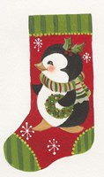 Penguin Stocking Fine-Art Print