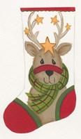 Reindeer Stocking Fine-Art Print