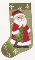 Santa With Tree Stocking Fine-Art Print