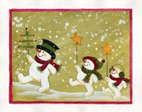 Marching Snowmen Fine-Art Print