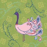Pink Peacock Fine-Art Print