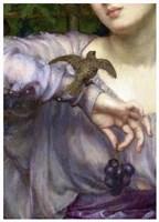 Edward John Poynter, Lesbia and her sparrow Detail 1907 Fine-Art Print
