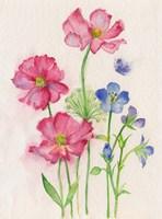 Pink & Blue Flowers Fine-Art Print