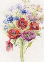 Red & Blue Flowers Fine-Art Print