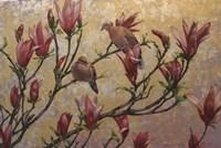 Doves On Gold Fine-Art Print