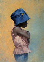 Girl with Hat Fine-Art Print