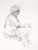 Man Sitting Sketch Fine-Art Print