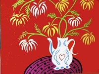 Teapot Vase - Red Fine-Art Print