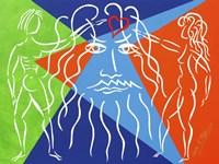 God Creates Adam and  Eve Fine-Art Print