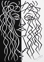 Two Faces of the Same Coin - Black/White Fine-Art Print