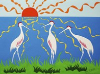 Three Storks Fine-Art Print