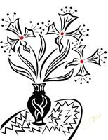 Black and White Floral Fine-Art Print