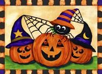 Pumpkins & Spider Fine-Art Print