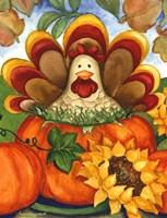 Turkey in a Pumpkin Fine-Art Print