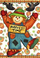 Scarecrow And Pumpkins Fine-Art Print