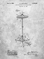 Anti-Slide Lock for an Actuator Pedal Patent Fine-Art Print