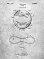 Baseball Patent Fine-Art Print
