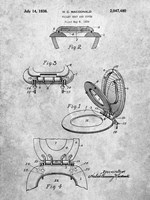 Toilet Seat and Cover Patent Fine-Art Print