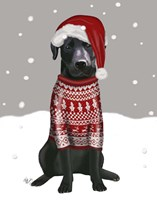 Black Labrador, Christmas Sweater 1 Fine-Art Print