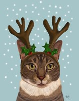 Calico Cat and Antlers Fine-Art Print