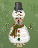 Yellow Labrador, Snowman Costume Fine-Art Print
