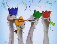 Ostrich, Party Gals Fine-Art Print
