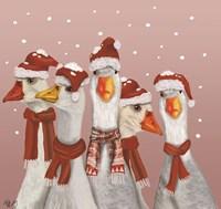 Christmas Gaggle of Geese Fine-Art Print