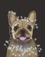 French Bulldog, Christmas Lights 2 Fine-Art Print