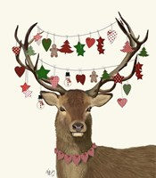 Deer, Homespun Decorations Fine-Art Print