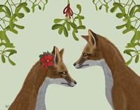 Foxes and Mistletoe Fine-Art Print