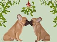 French Bulldogs and Mistletoe Fine-Art Print