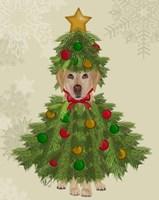 Yellow Labrador, Christmas Tree Costume Fine-Art Print