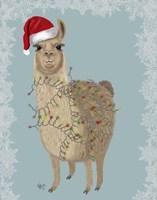 Llama, Christmas Lights 2 Fine-Art Print