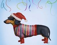 Christmas Dachshund Fine-Art Print