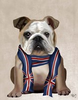 English Bulldog with Scarf Fine-Art Print