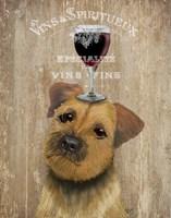 Dog Au Vin, Border Terrier Fine-Art Print