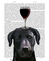 Dog Au Vin, Black Labrador Fine-Art Print