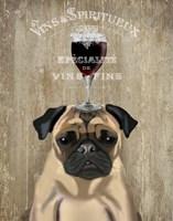 Dog Au Vin, Pug Fine-Art Print