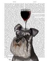 Dog Au Vin, Schnauzer Fine-Art Print