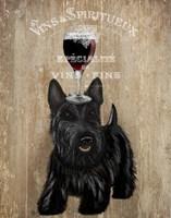 Dog Au Vin, Scottish Terrier Fine-Art Print