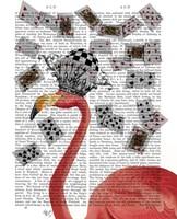 Flamingo and Cards Fine-Art Print
