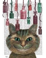 Cheshire Cat and Bottles Fine-Art Print