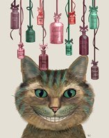 Cheshire Cat and Bottles Fine-Art Print