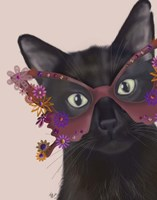 Cat and Flower Glasses Fine-Art Print