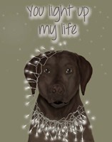 Chocolate Labrador, You Light Up Fine-Art Print